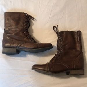 Steve Madden Brown Leather Boots Size 10